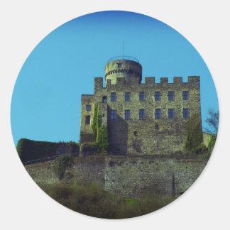 Burg Pyrmont, recuerdos alemanes del castillo Pegatina Redonda
