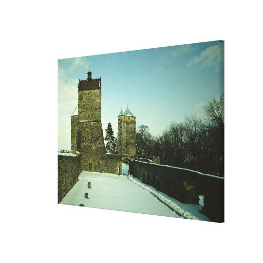Burg Stolpen, built c.1100 Canvas Print