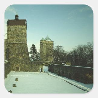 Burg Stolpen, c.1100 construido Pegatina Cuadrada