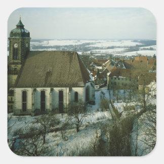 Burg Stolpen, construido en c.1100 Pegatina Cuadrada