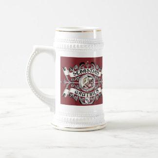 Burgandy Coat of Arms Beer Stein