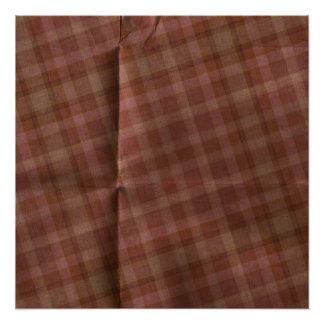 Burgandy Creased Plaid Poster