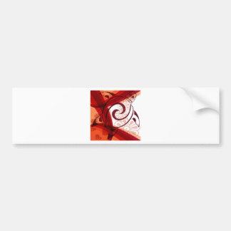 Burgandy-Floral-Turtle Bumper Sticker