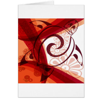Burgandy-Floral-Turtle Card
