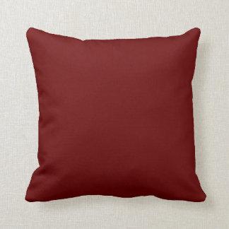 burgandy pillow