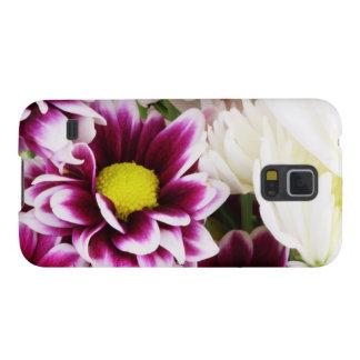 Burgandy & White Dahlia Galaxy S5 Cover