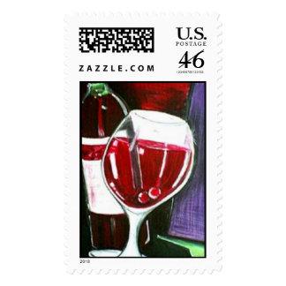 Burgandy Wine Stamps