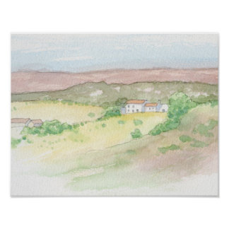 Burgau farm landscape poster