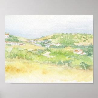 Burgau village, Portugal Poster
