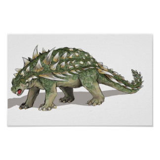 Burgei de Gastonia - dinosaurio cretáceo Póster