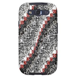Burgello Quilt Pattern Customize Red Black Samsung Galaxy SIII Case