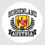 Burgenland Austria Pegatina Redonda