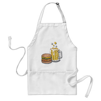 Burger and a Brew Adult Apron