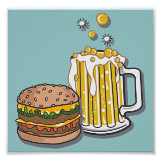 Burger and a Brew Print