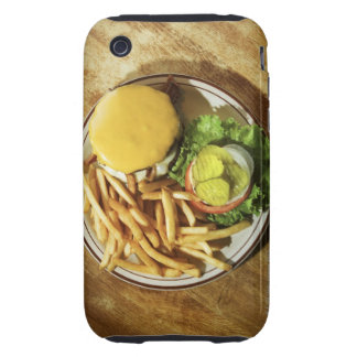 Burger and french fries tough iPhone 3 cover