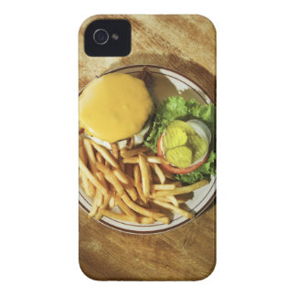 Burger and french fries iPhone 4 case