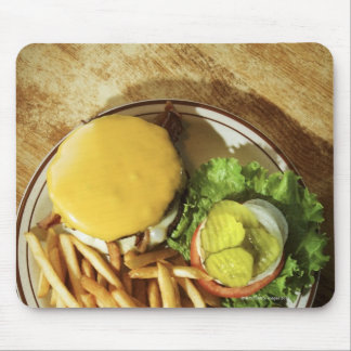 Burger and french fries mouse pads