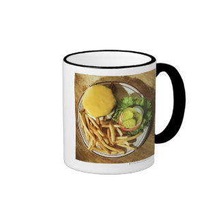 Burger and french fries mugs