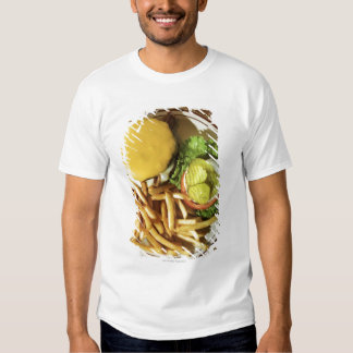 Burger and french fries t-shirt