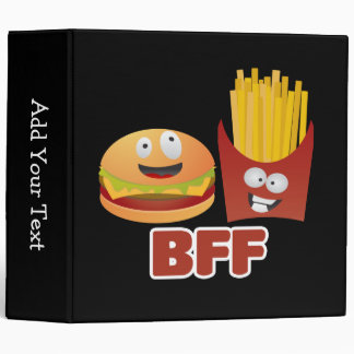 Burger And Fries Best Friends Forever Binder
