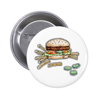 BURGER and FRIES BUTTON