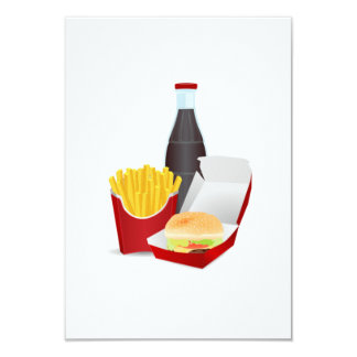 Burger and Fries Card