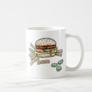 BURGER and FRIES CUP, TRAVEL MUG, STEIN