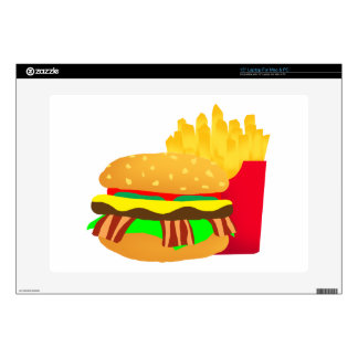 Burger and Fries Decals For Laptops