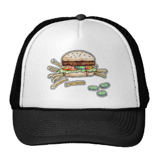 BURGER and FRIES HAT, CAP Trucker Hat