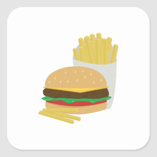 Burger and Fries Sticker