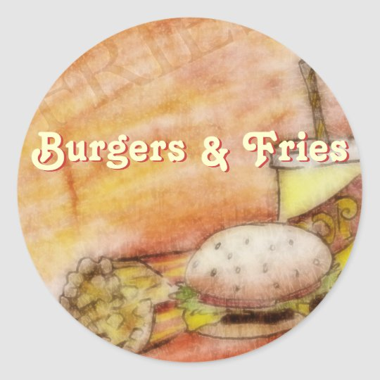 Burger and Fries Stickers