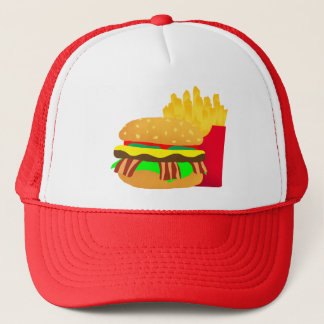 Burger and Fries Trucker Hat