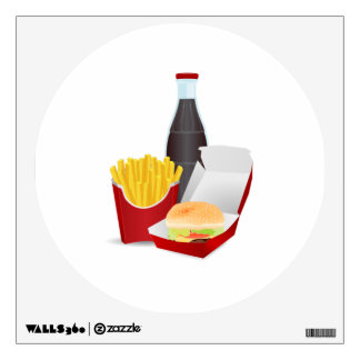 Burger and Fries Wall Sticker
