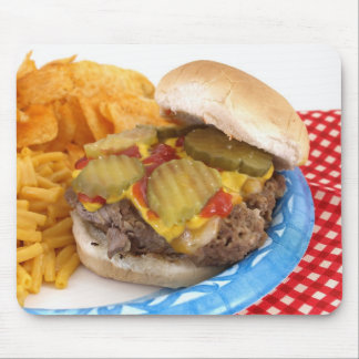 Burger and Sides Mouse Pad