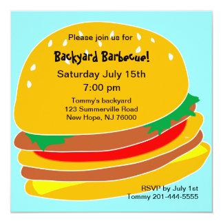 Burger BBQ Party Invitation
