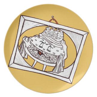 "'Burger Bernice' 10"" Melamine Plate"