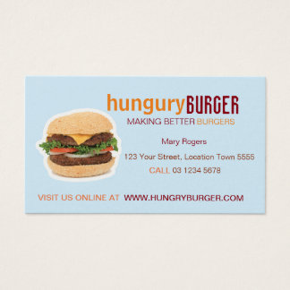 Burger Business Card