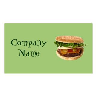 Burger Business Card Templates