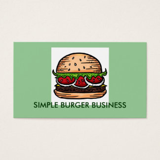 Burger Business customizable business cards