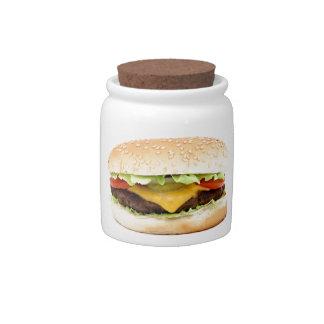 burger candy jars