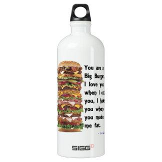 Burger Collection Aluminum Water Bottle