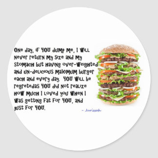 Burger Collection Classic Round Sticker