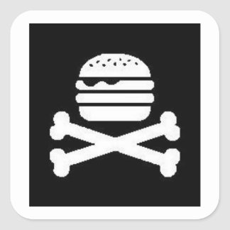 Burger & Crossbones Square Sticker