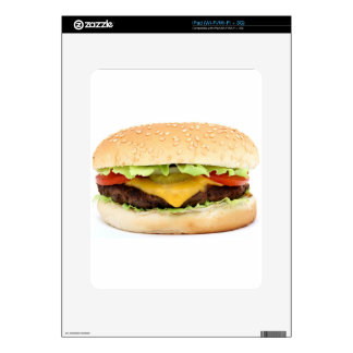 burger decal for iPad