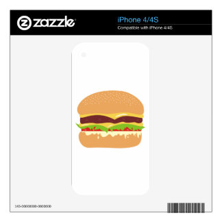 burger decal for the iPhone 4S