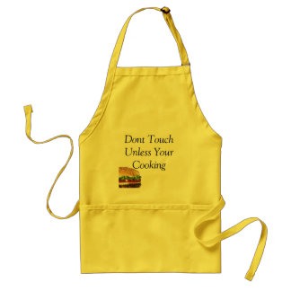 burger, Dont Touch Unless Your Cooking Adult Apron
