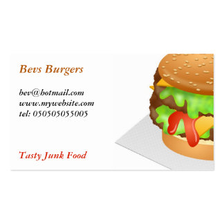 Burger Double-Sided Standard Business Cards (Pack Of 100)