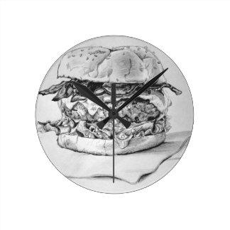 Burger Drawing Clock