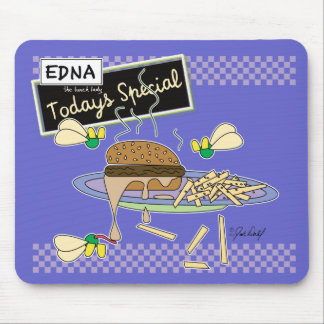 Burger - Edna the lunch lady Mousepads
