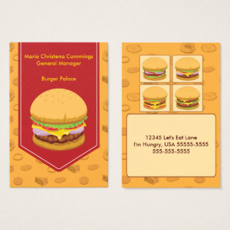 Burger Fast Food Mighty Business Card